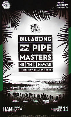 2015/16 Billabong Pipe Masters Poster Surfing Contest - FREE SAME DAY SHIPPING!!