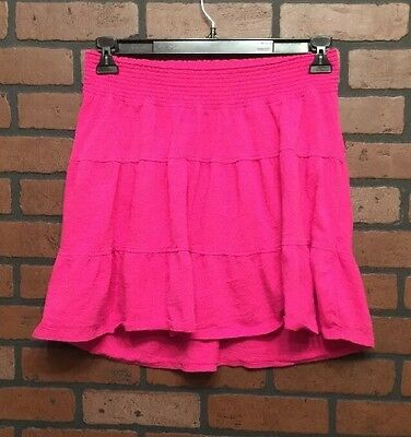 Women Skirt Small Pink  Maternity Casual 100% Cotton Old Navy