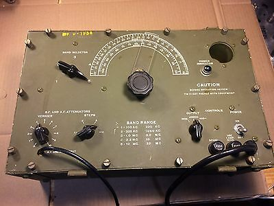 Vintage 1954 US Army Corps Signal Generator I-72-L Very Rare