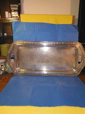 Antique Webster Wilcox International Silver Co. Silverplate  Tray