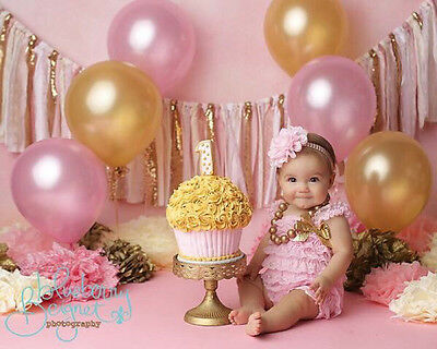 Pink And Metallic Gold Balloons (40PCES)-Helium Quality/Party Decorations
