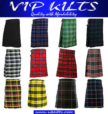 Mens Scottish 5 Yard Kilts 13 OZ Kilt Casual Kilt Top Quality VIP Kilts 32 To 46