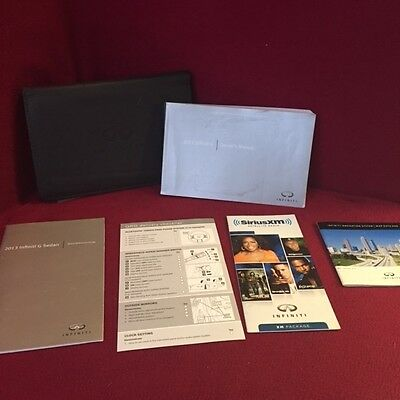2013 Infiniti FX Owners Manual with reference guides and case