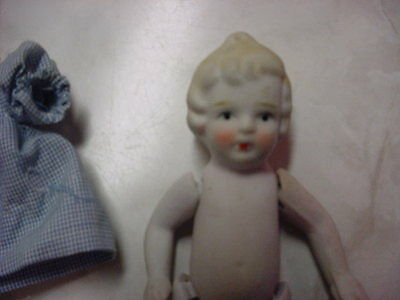 """Cute Vintage 5"""" All Bisque Doll - Japan"""