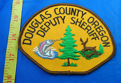 Douglas County Deputy Sheriff Oregon Embroidered Cloth Patch