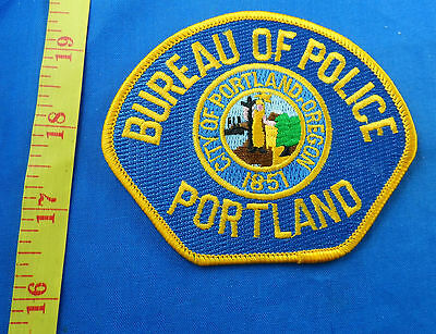 "Portland Oregon Bureau Of Police Fully Embroidered 4"" Cloth Patch"