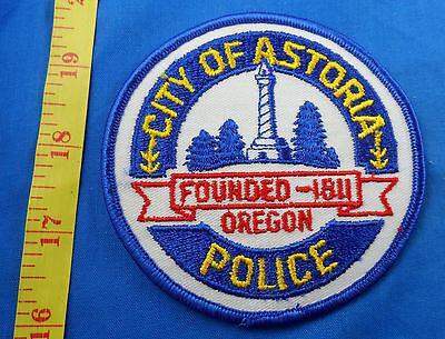 Astoria Oregon Police Embroidered Cloth Patch