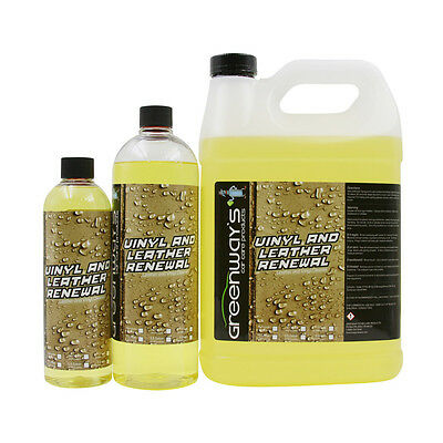 Leather and vinyl cleaner for auto and car interiors remove dirt and grime