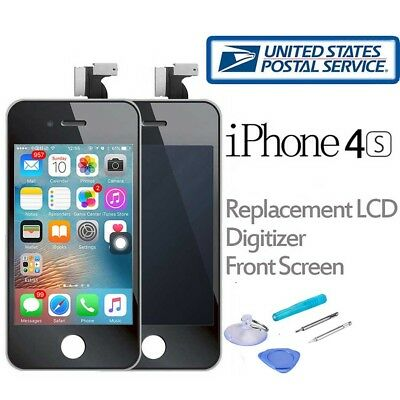 LCD Touch Screen Digitizer Front Glass Replacement Assembly for iPhone 4S Black