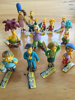 The Simpsons figurines limited edition series 1, 2 and the 3 with tags The lot!
