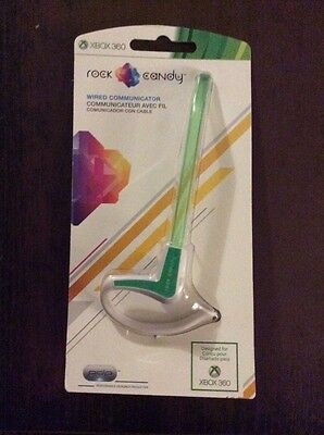 Green Rock Candy Communicator Wired Headset for Xbox 360 PDP 037-007 New