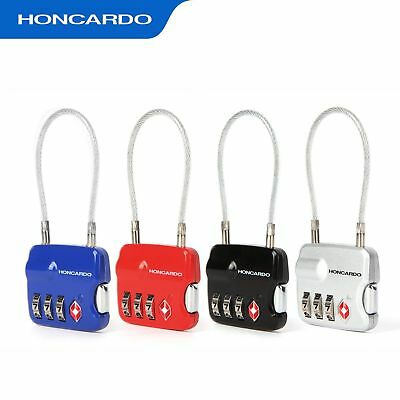 3-Digit Combination Cable TSA Lock ZincAlloy Travel Luggage Security Padlock