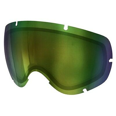 New Poc Lobes Lense Ski Goggles Replacement Lens Bronze W Green Mirror One Size