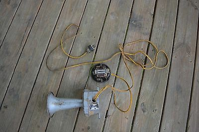 Vintage Benjamin Electric 115 volt Signal Horn and Switch~Coal Mine Horn~WORKS!!