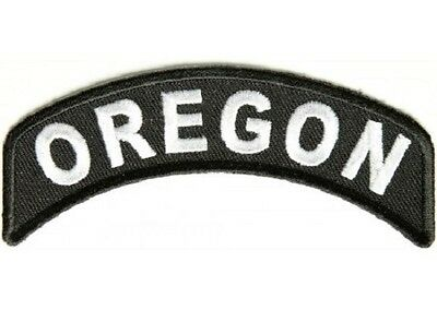 Oregon State Embroidered Rocker Biker Patch