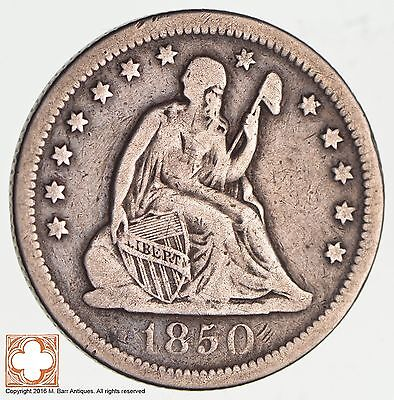 1850-O Seated Liberty Silver Quarter *2572