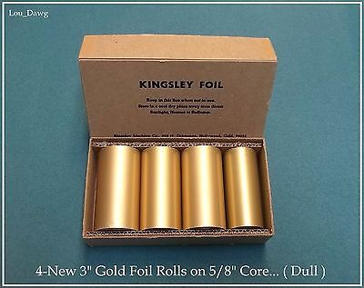 "Kingsley Machine ( 4-New 3"" Gold Foil Rolls 5/8"" Core) Hot Foil Stamping Machine"