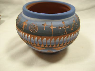 Navajo Colorful Pottery Signed Jackie Hurler COE