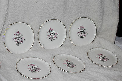 W. S. George Dessert plates stamped  hand decorated 22k gold