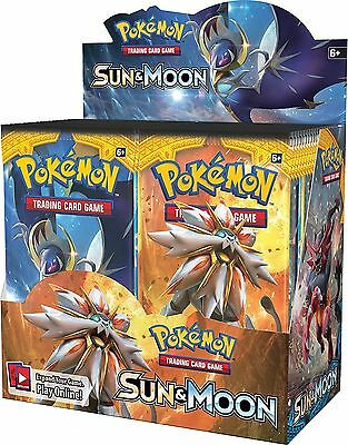 NEW! Pokemon TCG. Sun and Moon 4 x Booster Packs! Collectable Cards.