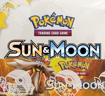 NEW! Pokemon TCG. Sun and Moon Booster Box! Collectable Cards.