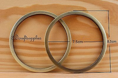 metal O rings O-ring purse ring connector anti brass alloy 75 mm 3 inch 2pcs E7