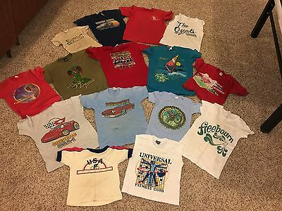 Lot of 15 1980s kids boys child shirts dukes hazzard knight rider E.T.