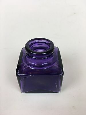 Nice Purple  Very Crude Carters Ink Bottle Square Style Great Decor!