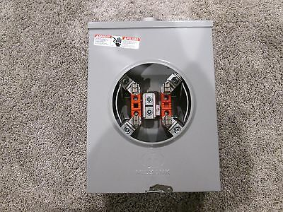 (2) Milbank Single Phase 200 amp Meter Sockets  (New in box)
