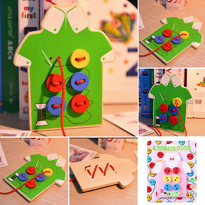 Kids Montessori Educational Toy Children Beads Lacing Board Wooden Toys Gift Hot