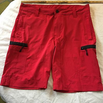 Men's Size 36 Red Board Shorts Polyester/Spandex