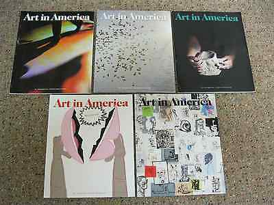 Art in America magazine-Lot of 5 Issues from 2016 & 2017