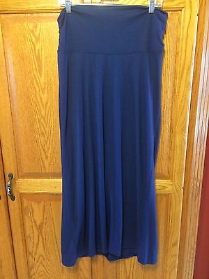Old Navy Blue Maternity Maxi Skirt Size Small