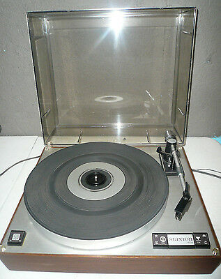 Vintage Stanton 8004 Turntable w/Stanton 681 Cartridge & New Cover