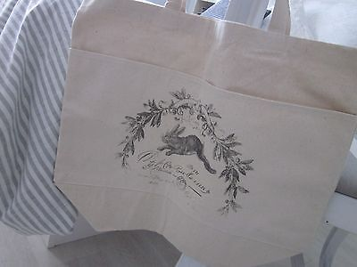 SHOPPING Tote 100% COTTON Farmers Market~Le LAPIN ~ Gift