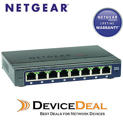 NETGEAR GS108E-300AUS Prosafe 8-Port Gigabit Smart Switch