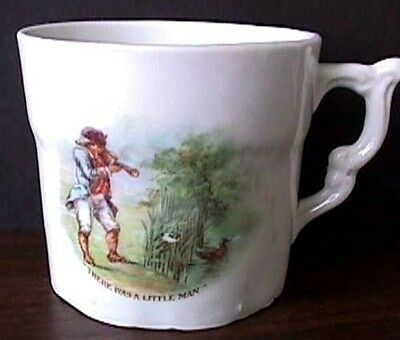 """*vintage """"There Was A Little Man"""" Nursery Rymne Cup-B12-E"""