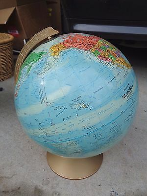 "Vintage Blue Replogle 12"" Raised Topography Globe World Nation Series"