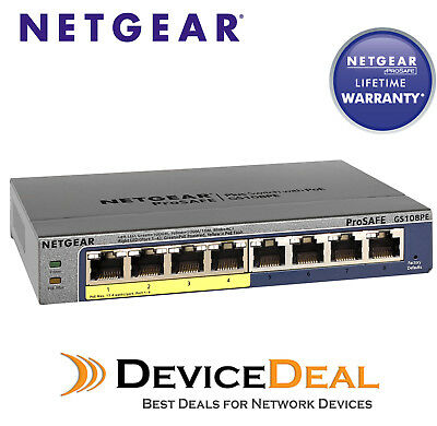 Netgear GS108PE ProSAFE Plus PoE Gigabit Switch 8-Port with 4-Port PoE
