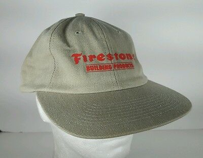 Tan Firestone Building Products Strapback Hat Cap Nobody Covers You Better