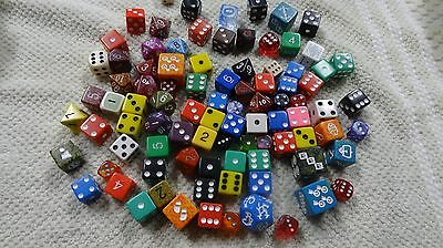 large lot of assorted dice , some really unusual
