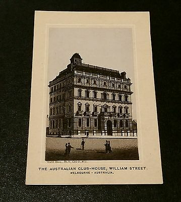 Victorian Advertising Trade Card Jersey Coffee AUSTRALIAN CLUB HOUSE WILLIAM ST.