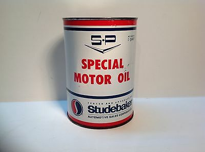 Vintage Studebaker Special S-P Rare Motor Oil Empty Quart Can metal Gas sign car