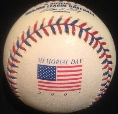 Memorial Day Flag Baseball 2002 Baseball New Very Rare Rawlings