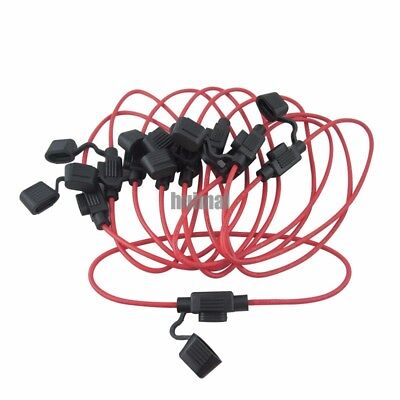 10pcs Inline 16 AWG Blade ATM Mini Fuse Holder for Car Boat Truck w 30cm cable