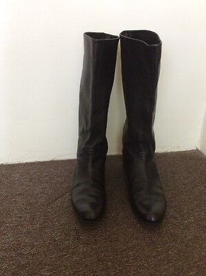 Bally Boots Womens 40.5 Black Leather