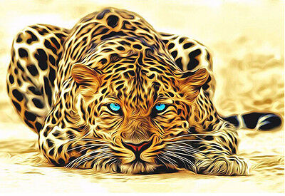 Leopard picture Oil Painting Home Decor DIY Paint By Number Kit On Canvas 40X50