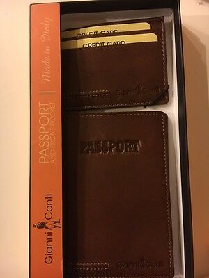 Brand New Gianni Conti Passport Holder and Case/ID wallet