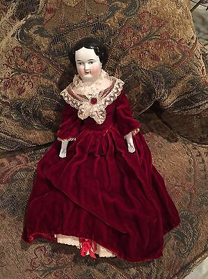 1900's Vintage China Head Doll