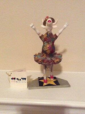 Cow Parade Collectible Cows, Dancing Diva, 2001, New York, Retired #9132